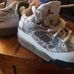 Jordan's toddler shoes.